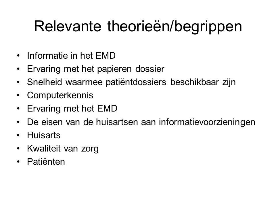Relevante theorieën/begrippen