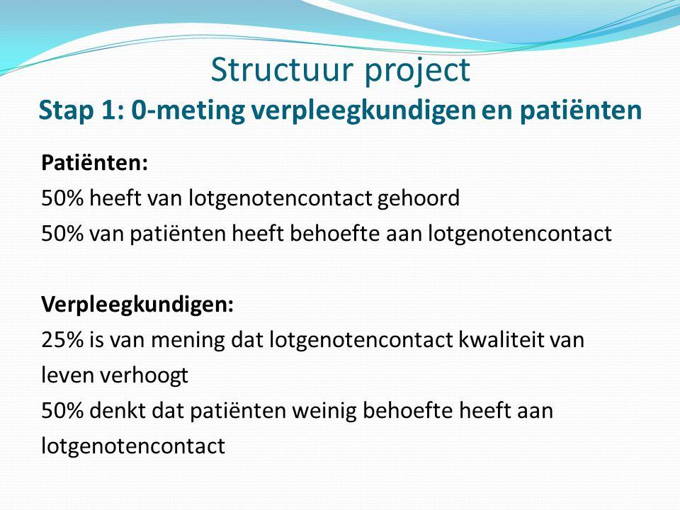 Structuur project Stap 1: 0-meting verpleegkundigen en patiënten