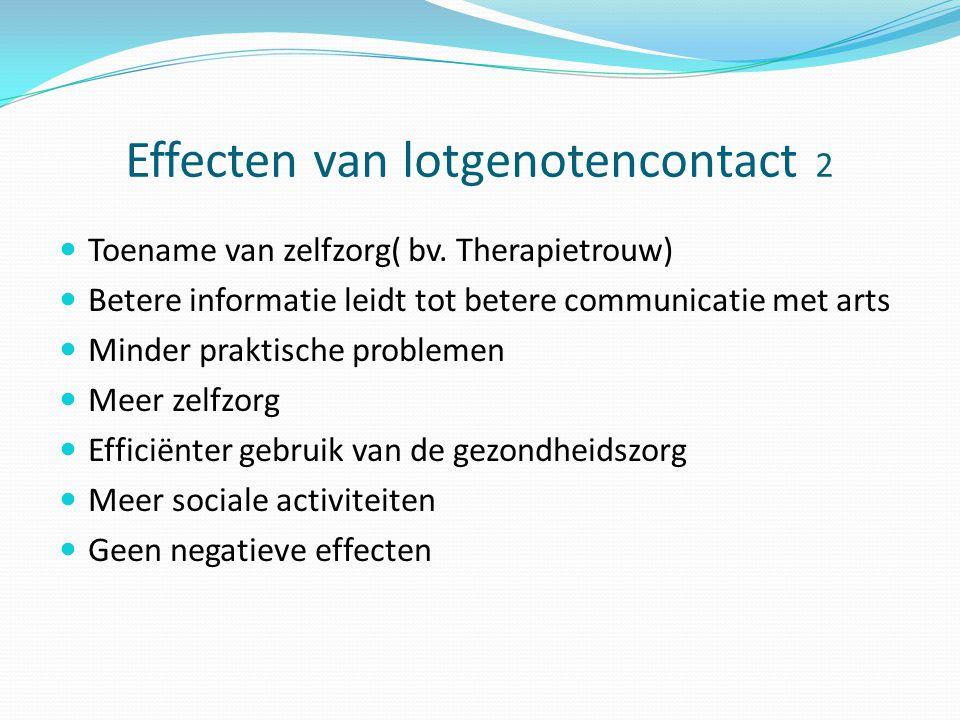Effecten van lotgenotencontact 2