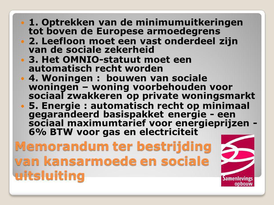 Memorandum ter bestrijding van kansarmoede en sociale uitsluiting