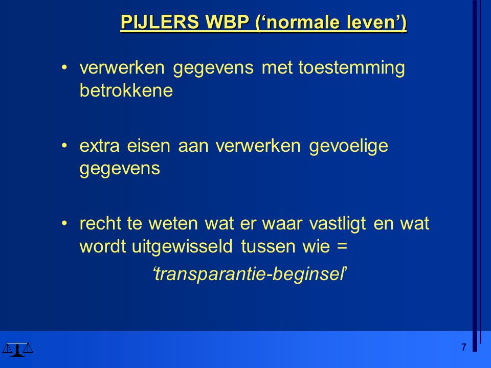 PIJLERS WBP ('normale leven')