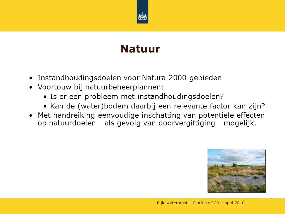 Natuur Instandhoudingsdoelen voor Natura 2000 gebieden