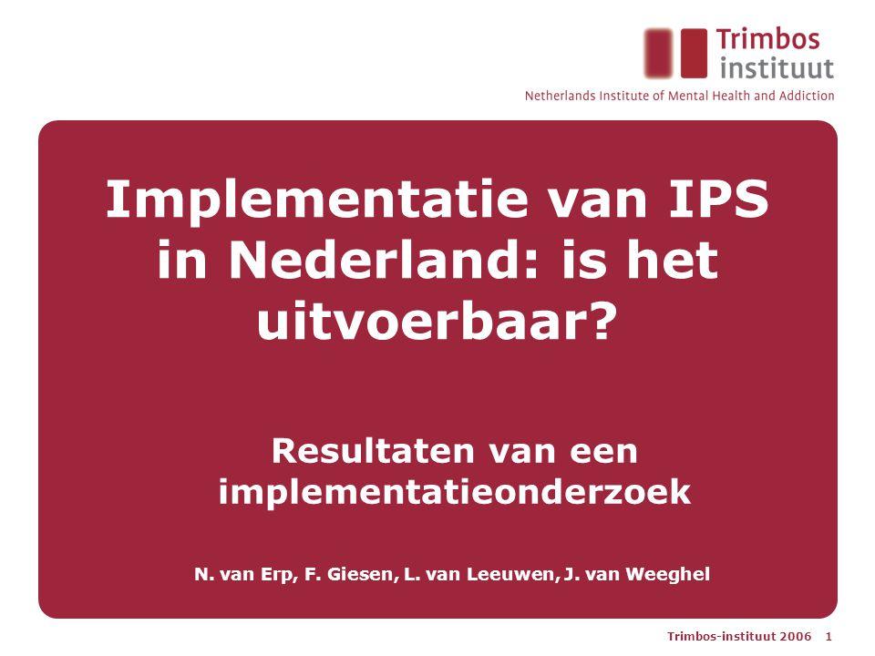 Implementatie van IPS in Nederland: is het uitvoerbaar