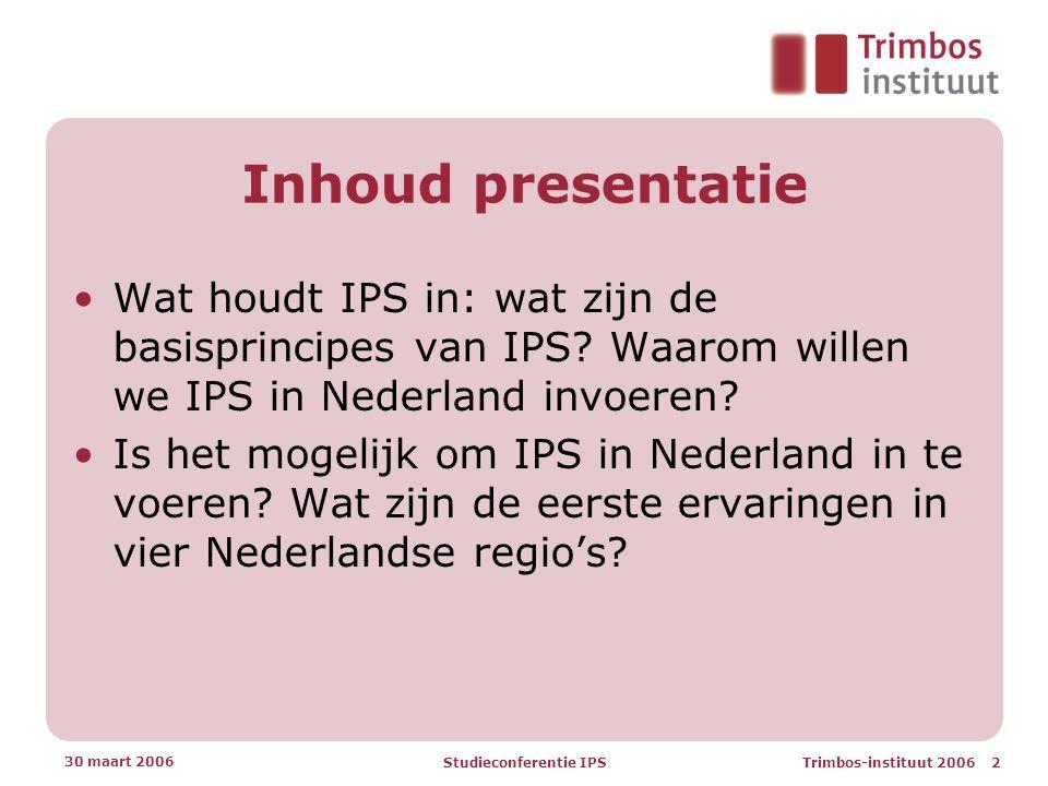 Studieconferentie IPS