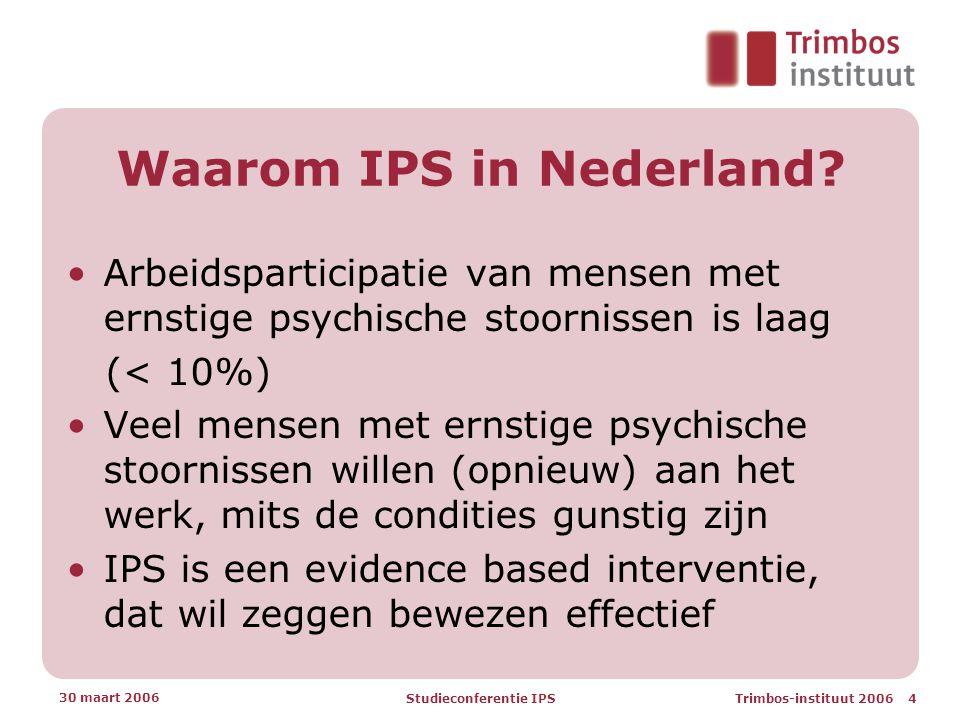 Waarom IPS in Nederland