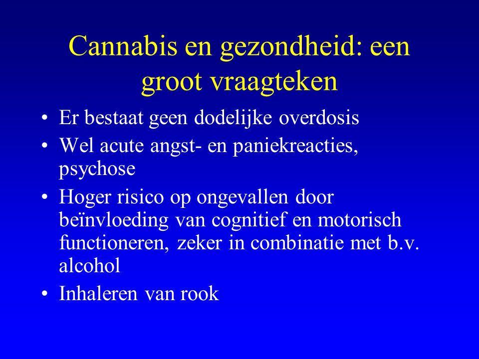 Cannabis en gezondheid: een groot vraagteken