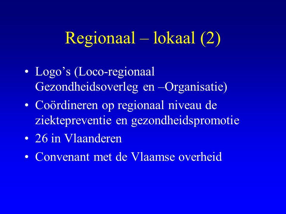 Regionaal – lokaal (2) Logo's (Loco-regionaal Gezondheidsoverleg en –Organisatie)