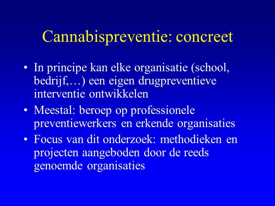 Cannabispreventie: concreet