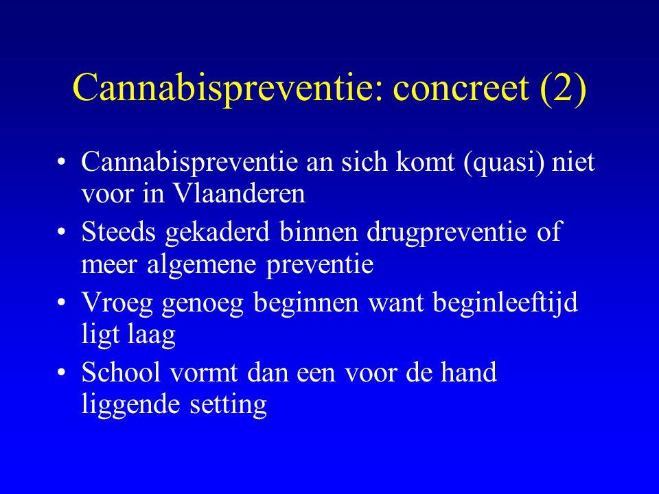 Cannabispreventie: concreet (2)