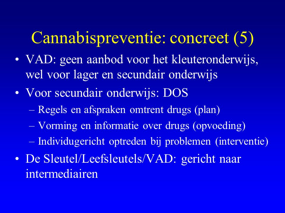 Cannabispreventie: concreet (5)