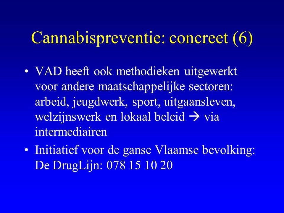 Cannabispreventie: concreet (6)