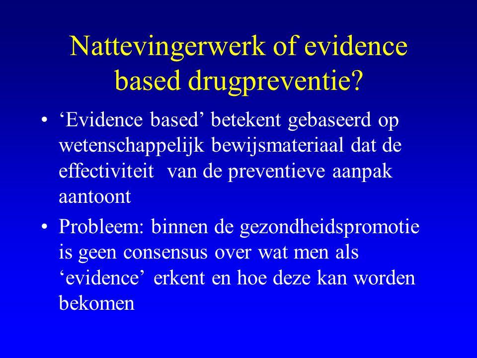 Nattevingerwerk of evidence based drugpreventie