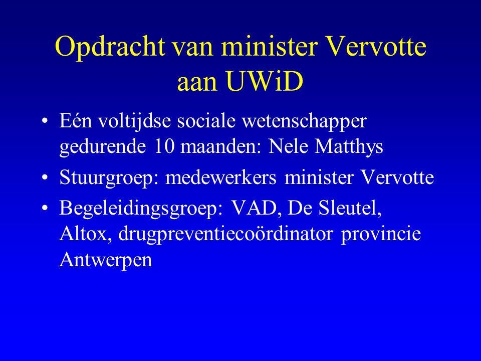 Opdracht van minister Vervotte aan UWiD