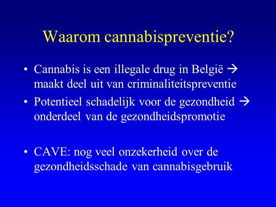 Waarom cannabispreventie
