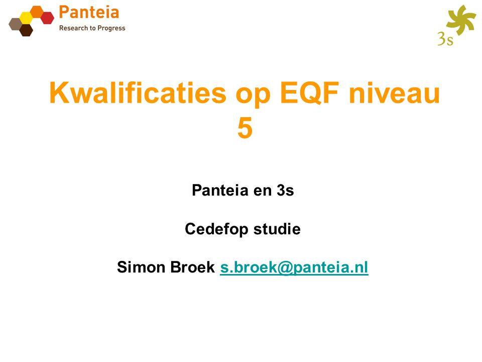 Kwalificaties op EQF niveau 5