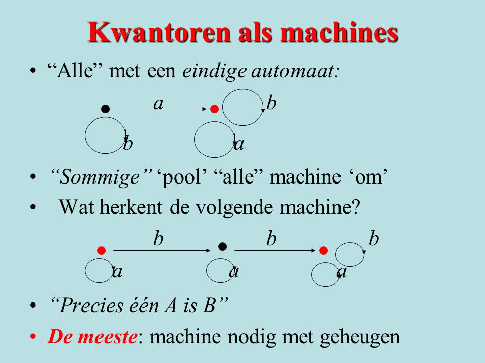 Kwantoren als machines