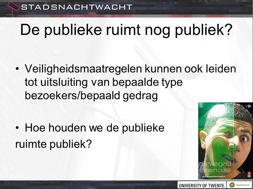 De publieke ruimt nog publiek