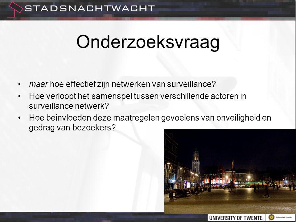 Onderzoeksvraag maar hoe effectief zijn netwerken van surveillance