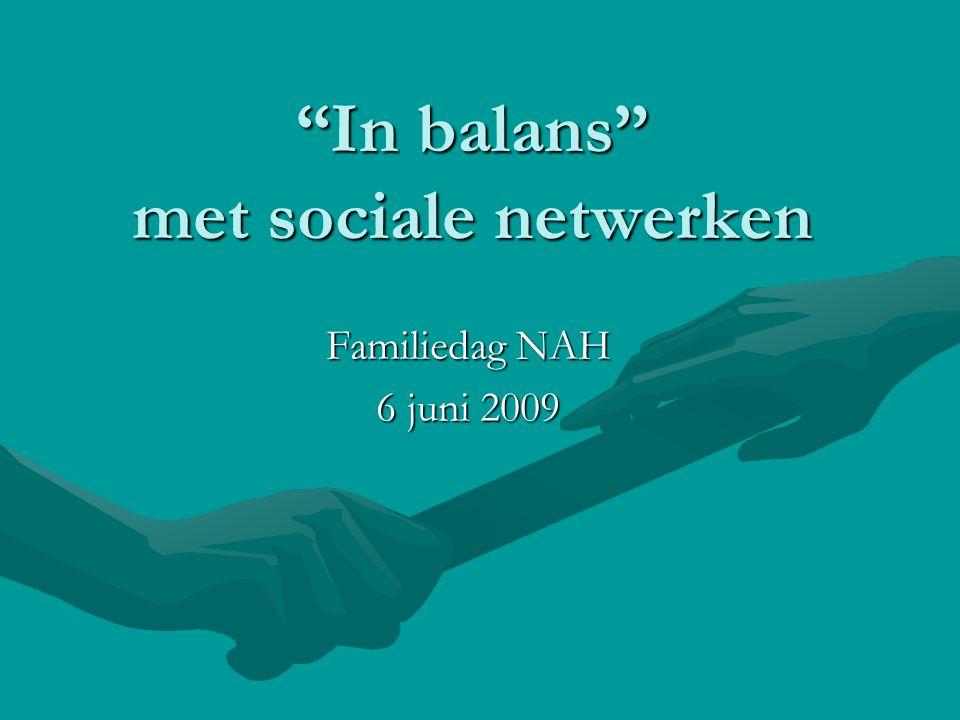 In balans met sociale netwerken