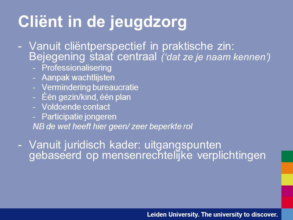 Cliënt in de jeugdzorg Vanuit cliëntperspectief in praktische zin: