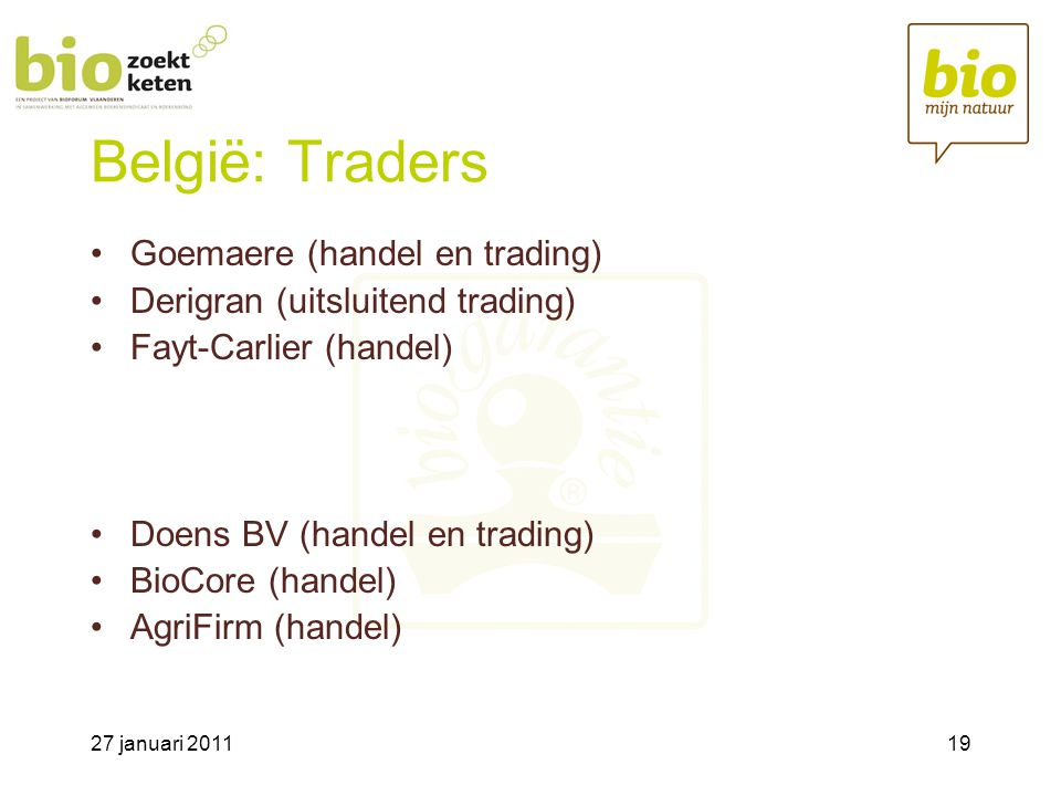 België: Traders Goemaere (handel en trading)