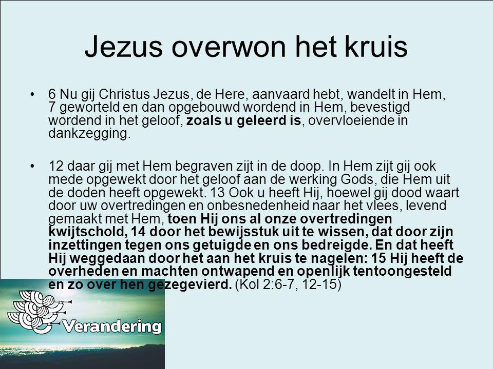 Jezus overwon het kruis