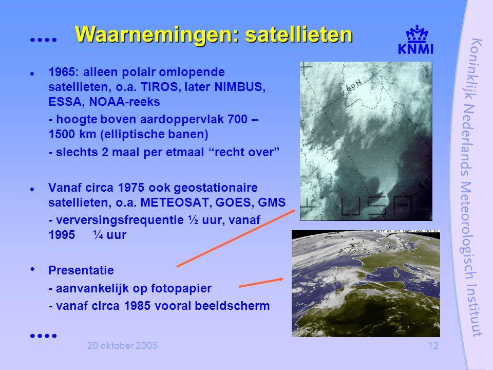 Waarnemingen: satellieten