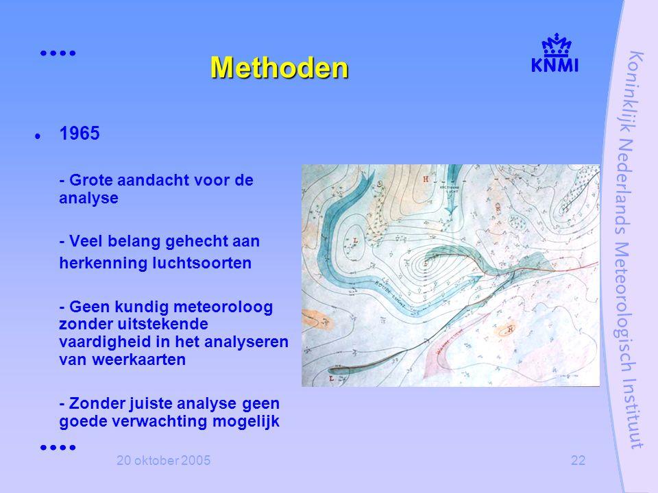 Methoden 1965 - Grote aandacht voor de analyse
