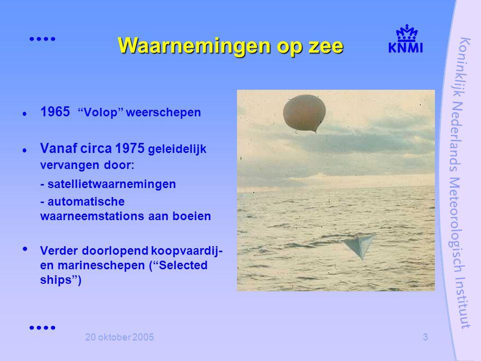 Waarnemingen op zee 1965 Volop weerschepen
