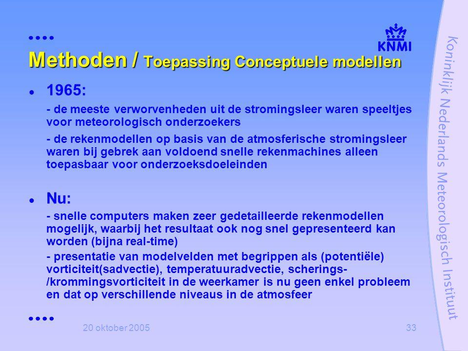 Methoden / Toepassing Conceptuele modellen