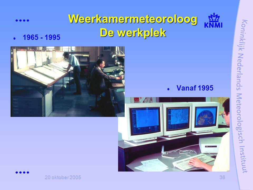 Weerkamermeteoroloog De werkplek