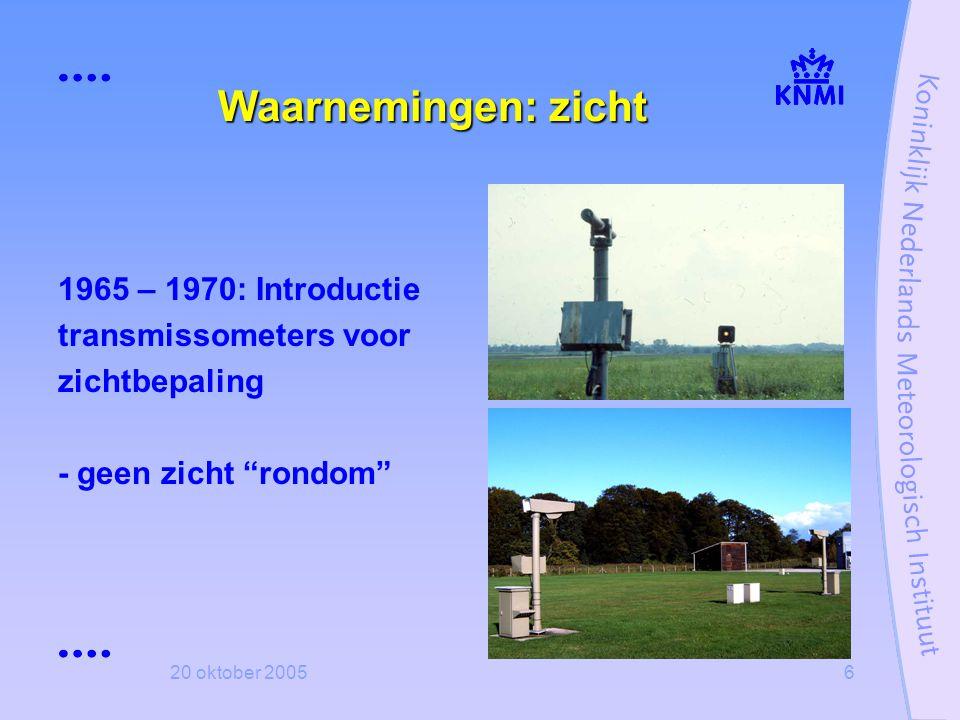 Waarnemingen: zicht 1965 – 1970: Introductie transmissometers voor