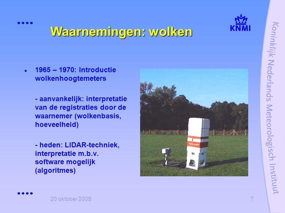 Waarnemingen: wolken 1965 – 1970: Introductie wolkenhoogtemeters