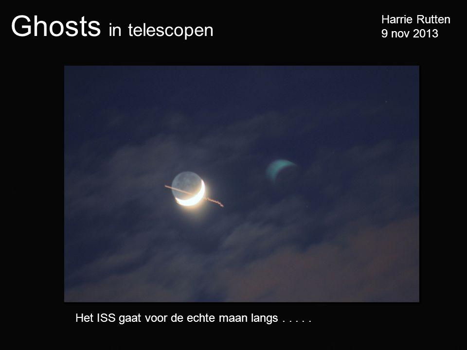 Het ISS gaat voor de echte maan langs . . . . .