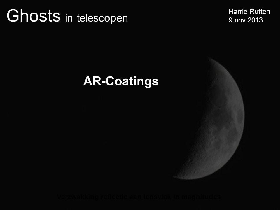 AR-Coatings Verzwakking reflectie aan lensvlak in magnitudes