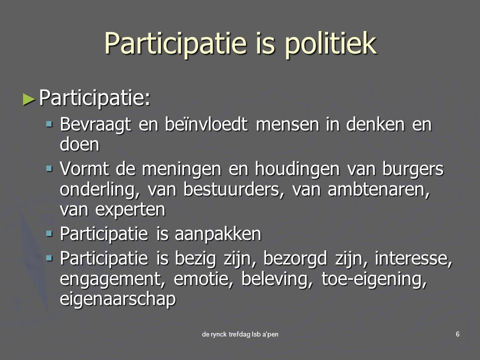 Participatie is politiek