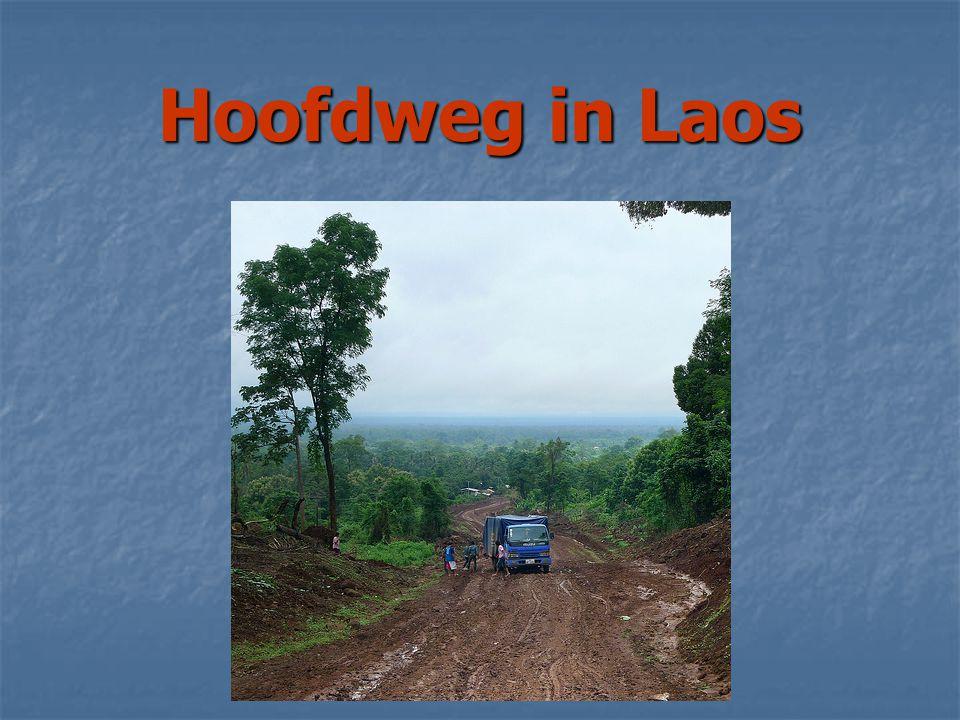 Hoofdweg in Laos