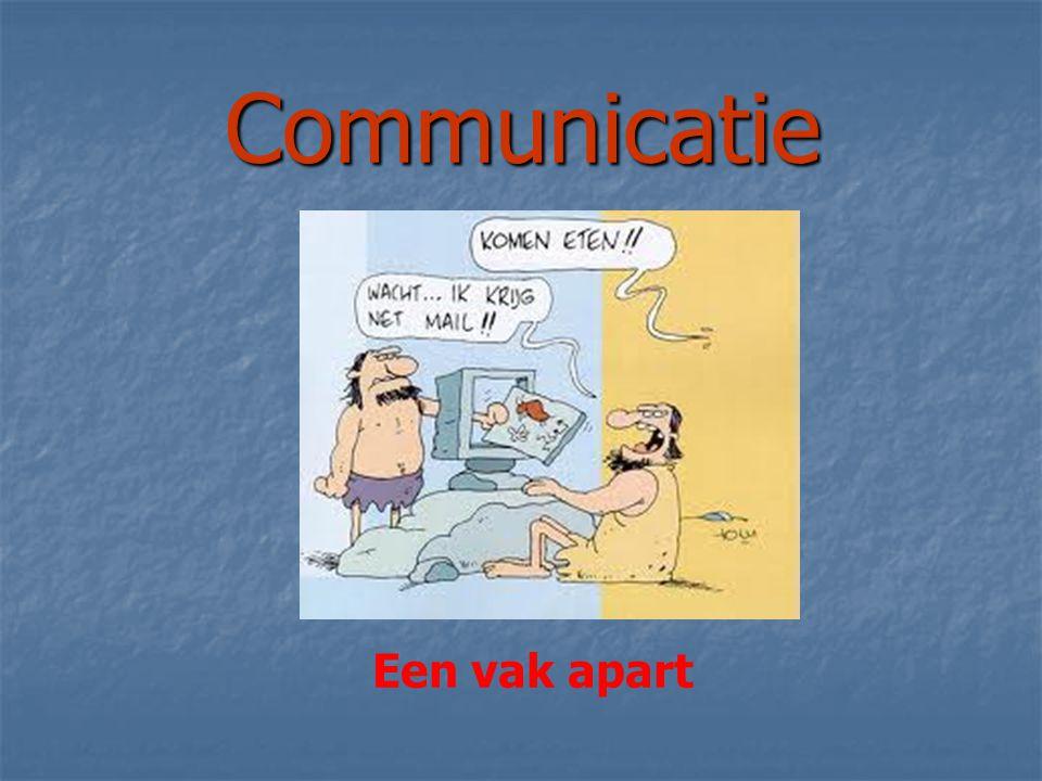 Communicatie Een vak apart