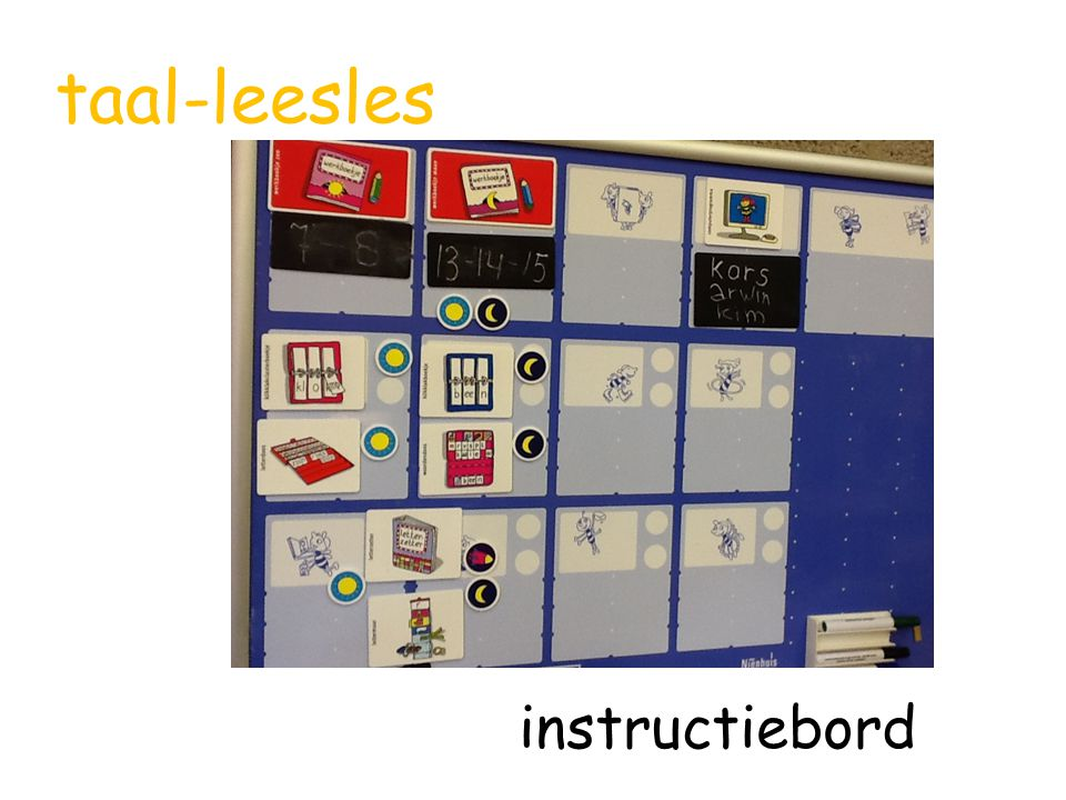 taal-leesles instructiebord