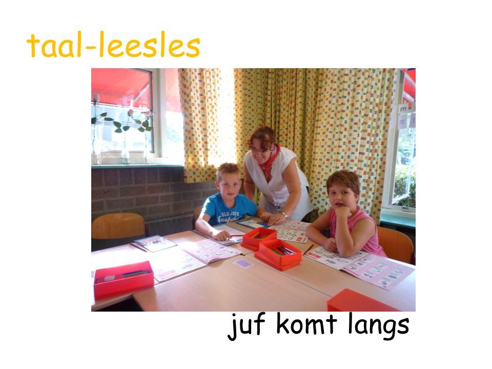 taal-leesles juf komt langs
