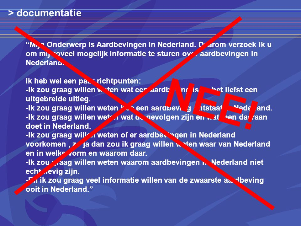 > documentatie NEE!