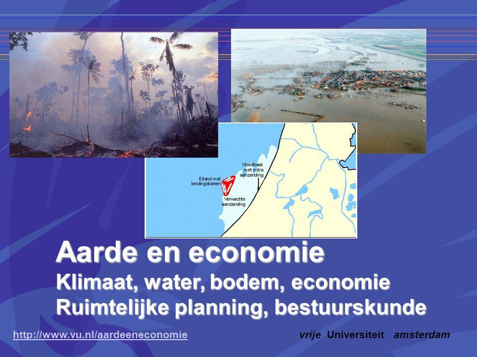 Aarde en economie Klimaat, water, bodem, economie