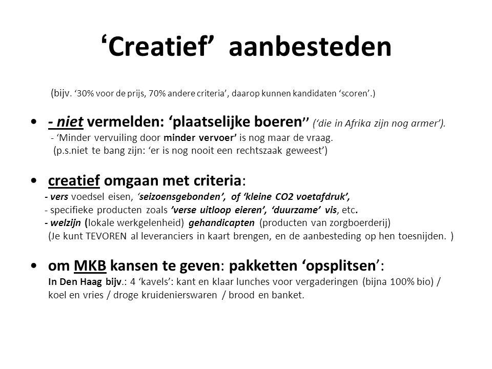 'Creatief' aanbesteden
