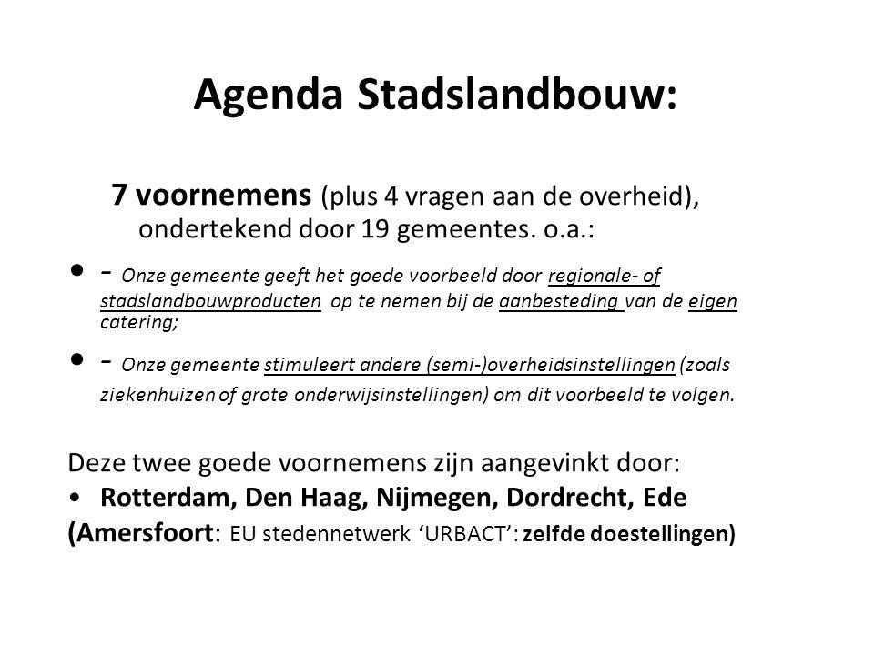 Agenda Stadslandbouw: