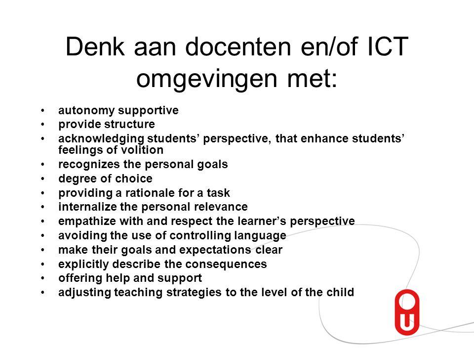 Denk aan docenten en/of ICT omgevingen met: