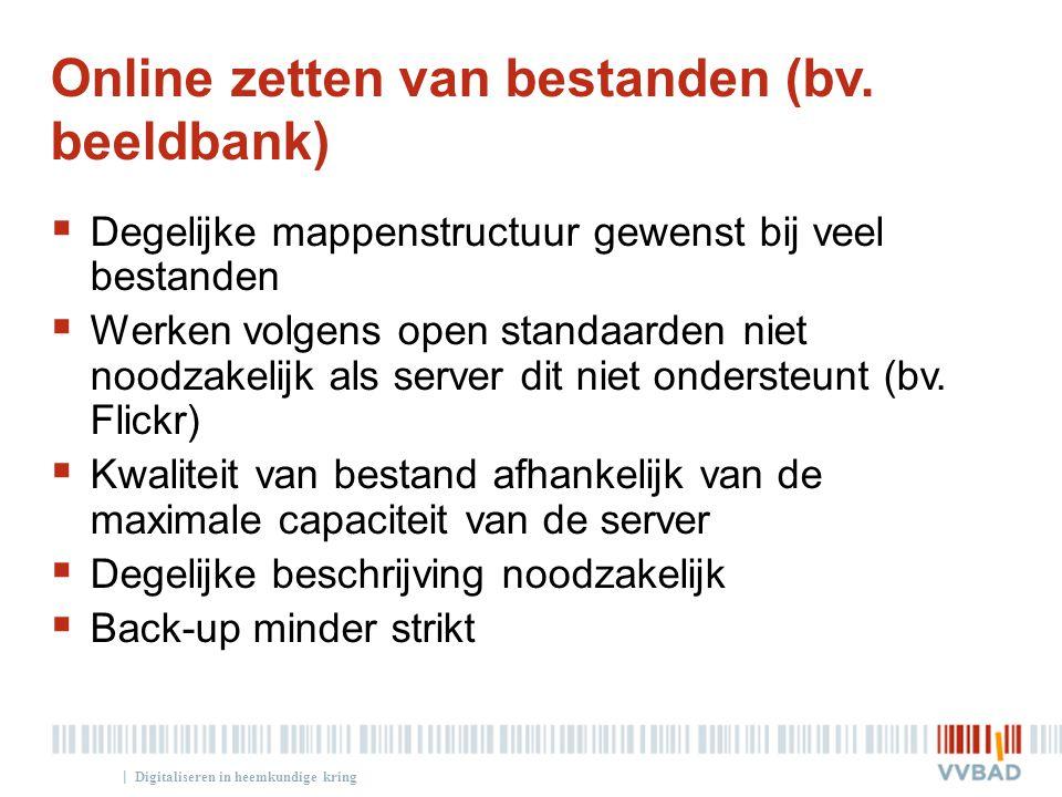 Online zetten van bestanden (bv. beeldbank)
