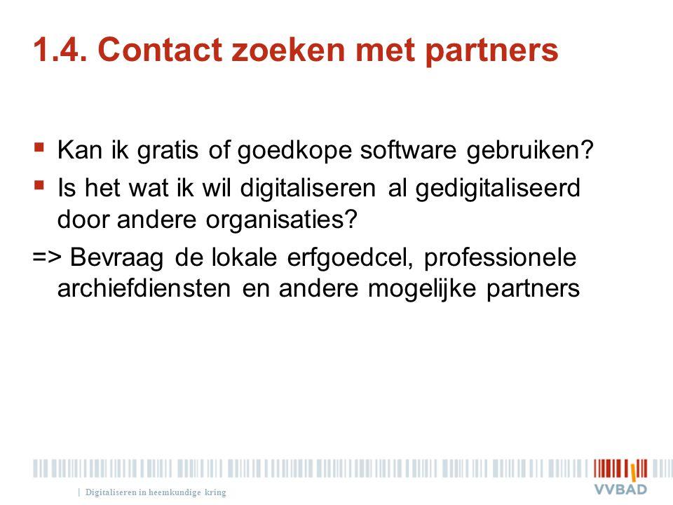 1.4. Contact zoeken met partners