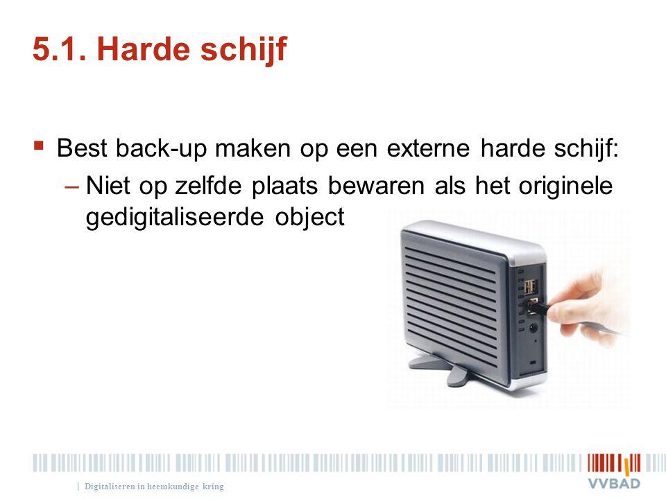 5.1. Harde schijf Best back-up maken op een externe harde schijf: