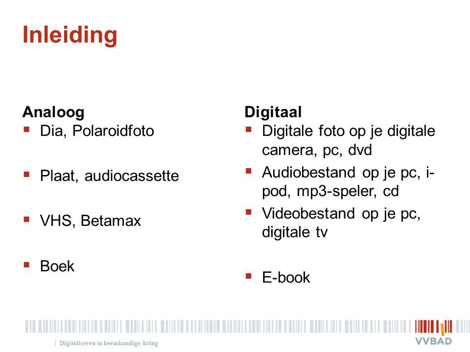 Inleiding Analoog Digitaal Dia, Polaroidfoto Plaat, audiocassette