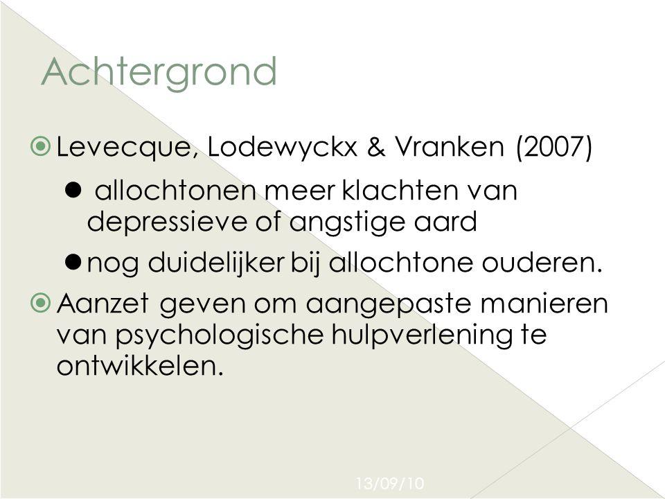 Achtergrond Levecque, Lodewyckx & Vranken (2007)